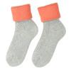 Dámske termo ponožky matex, šedá, oranžová, 919-5380 - 26
