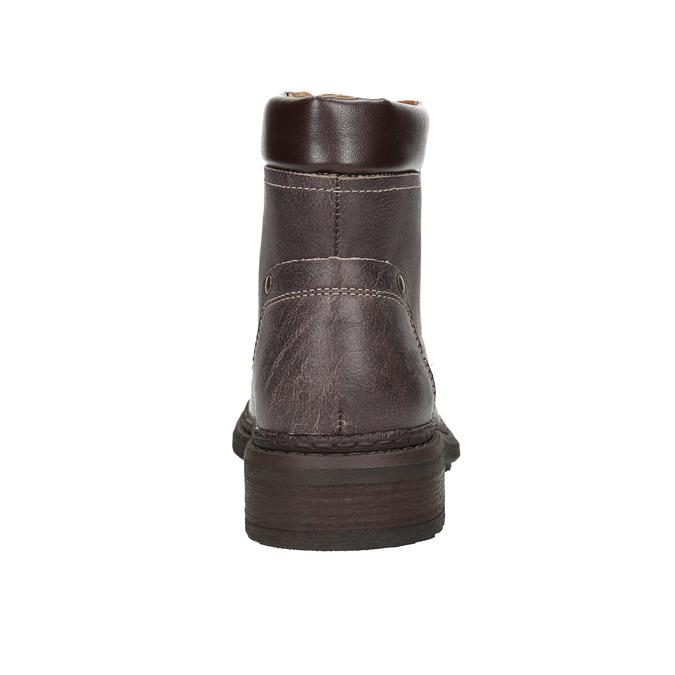 Dámska kožená členková obuv weinbrenner, hnedá, 596-4632 - 17