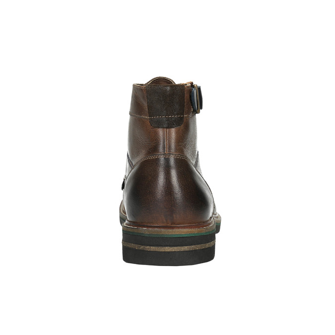 Pánska obuv s výraznou podrážkou bata, hnedá, 894-4651 - 17