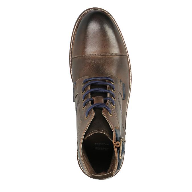 Pánska obuv s výraznou podrážkou bata, hnedá, 894-4651 - 19