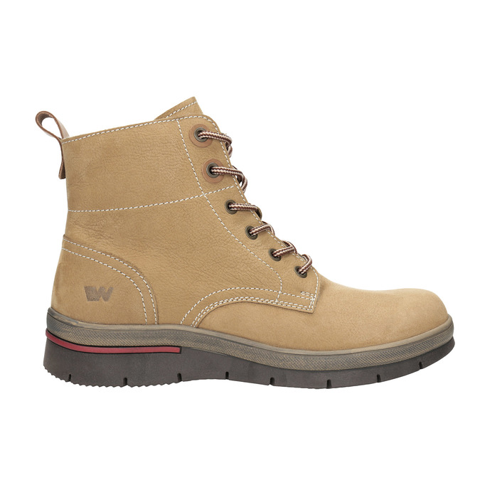Dámska zimná obuv kožená weinbrenner, hnedá, 596-4636 - 15