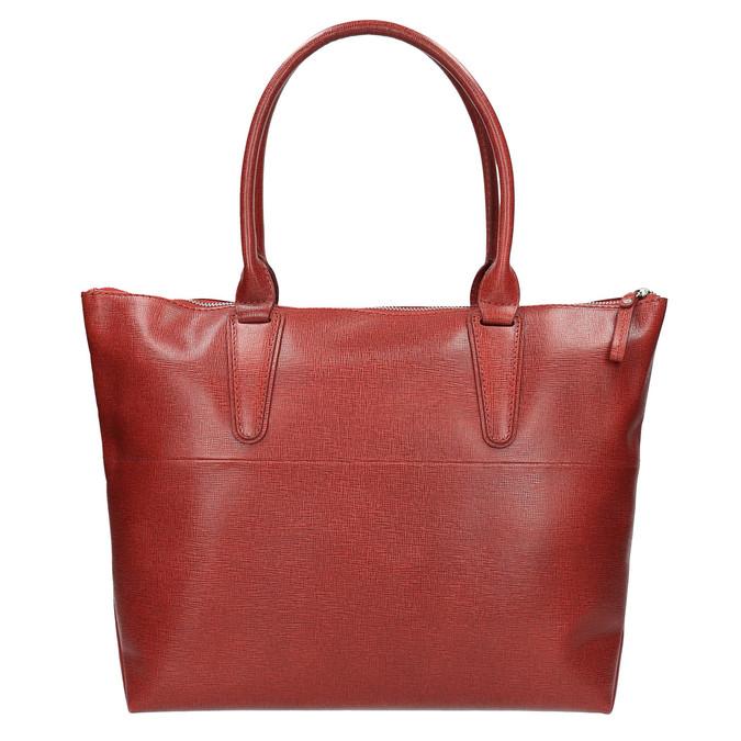 Dámska kožená kabelka červená bata, červená, 966-5201 - 19