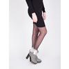 Kožená členková obuv s pravým kožuškom manas, šedá, 793-2603 - 18