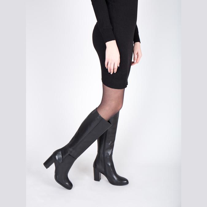 Kožené dámske čižmy bata, čierna, 794-6447 - 18