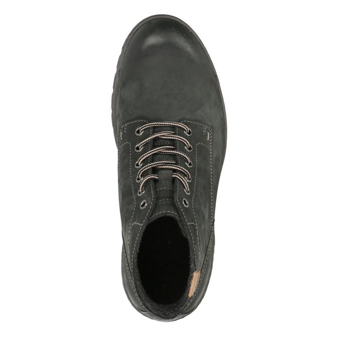 Kožená pánska členková obuv weinbrenner, šedá, 896-2107 - 19