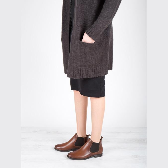 Kožené hnedé Chelsea Boots bata, hnedá, 594-4604 - 18