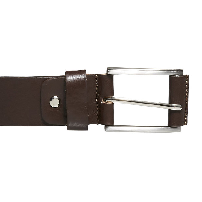 Klasický kožený opasok bata, hnedá, 954-4833 - 26