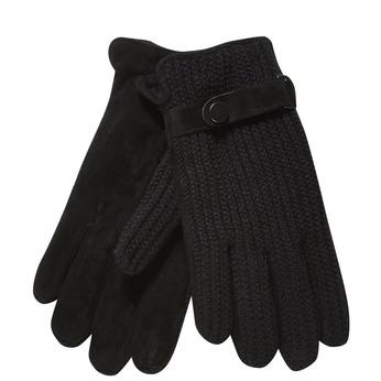 Pánske rukavice s pleteninou bata, čierna, 909-6295 - 13