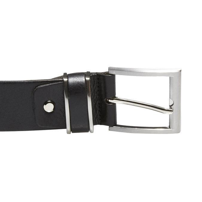 Pánsky kožený opasok bata, čierna, 954-6130 - 26