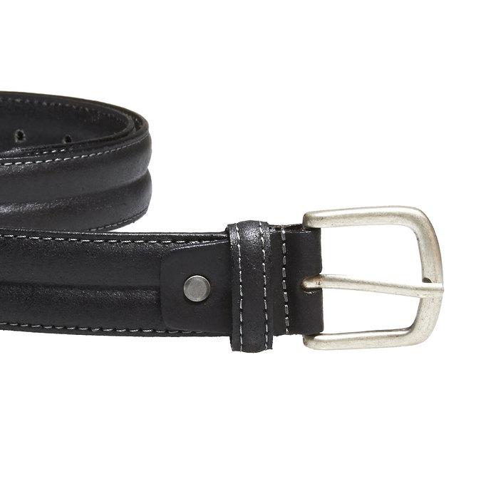 Pánsky kožený opasok bata, čierna, 954-6128 - 26