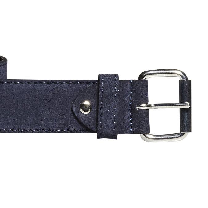Pánsky kožený opasok bata, modrá, 953-9106 - 26