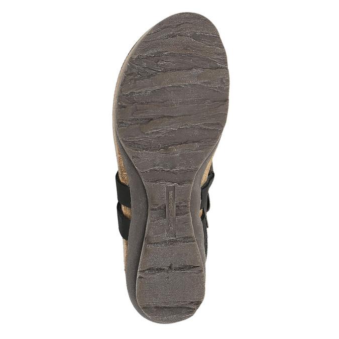 Dámske kožené sandále weinbrenner, čierna, 566-6101 - 26
