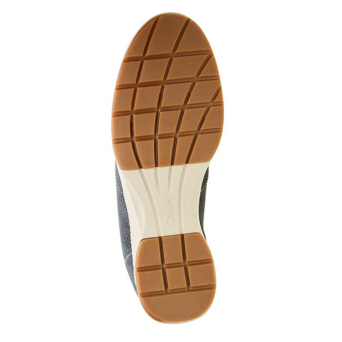 Pánska obuv z brúsenej kože clarks, modrá, 826-9006 - 26