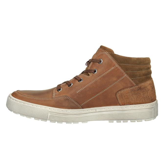 Pánske členkové tenisky bata, hnedá, 826-3650 - 26