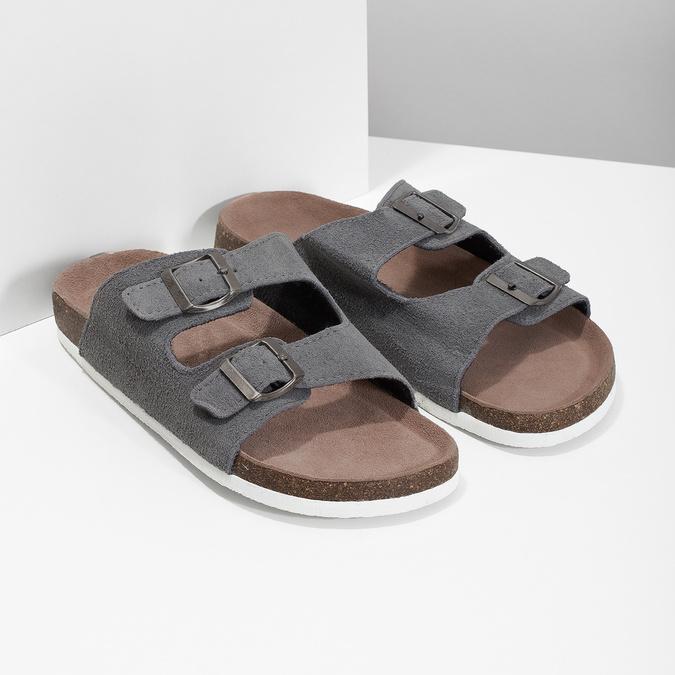 Pánska domáca obuv de-fonseca, šedá, 873-2610 - 26