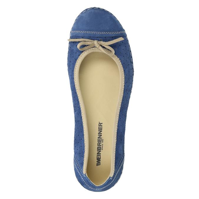 Ležérne kožené baleríny weinbrenner, modrá, 526-9503 - 19