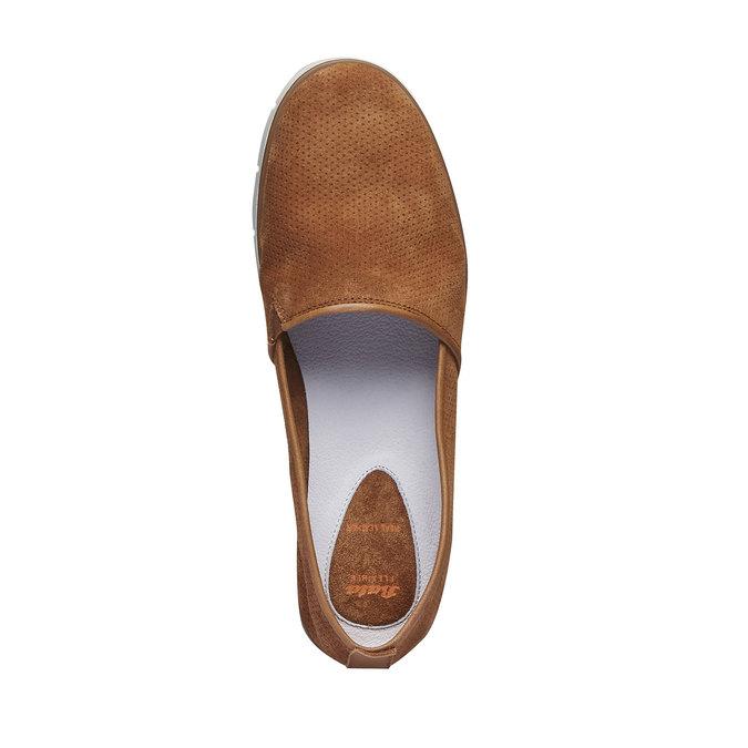 Kožené Slip-on topánky s perforáciou flexible, hnedá, 513-3200 - 19