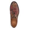 Kožené poltopánky s kvetinovým vzorom bata, hnedá, 526-5611 - 19