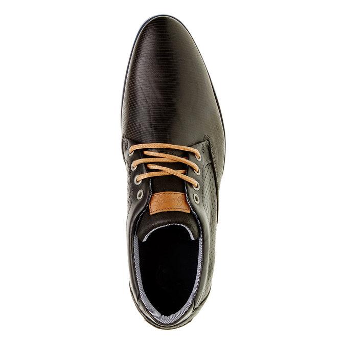 Ležérne kožené poltopánky bata, čierna, 824-6290 - 19