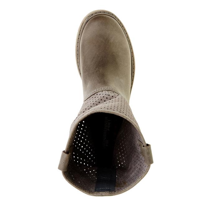 Dámske topánky z brúsenej kože weinbrenner, hnedá, 596-9102 - 19