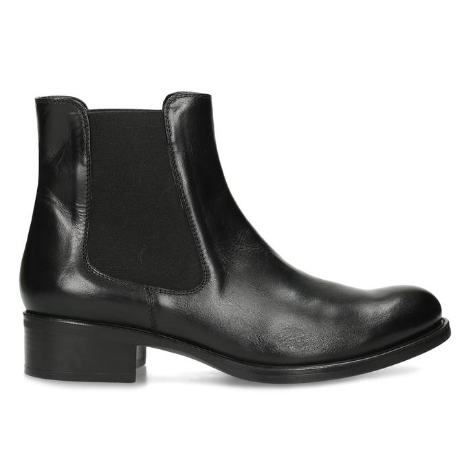Kožená dámska Chelsea obuv bata, čierna, 594-6448 - 19