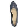 Dámske kožené lodičky bata, modrá, 624-9601 - 19