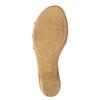 Kožené sandále na nízkom podpätku bata-touch-me, červená, 666-5203 - 19