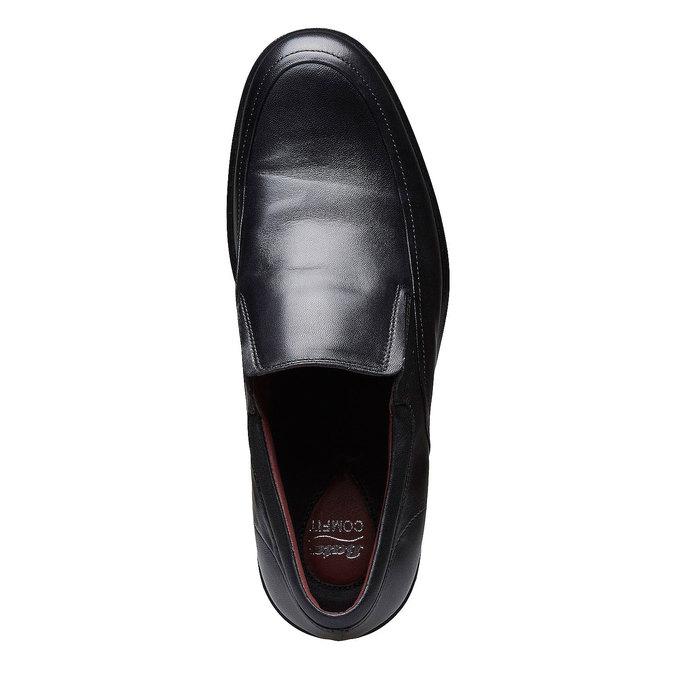 Komfortné poltopánky z kože bata-comfit, čierna, 814-6934 - 19