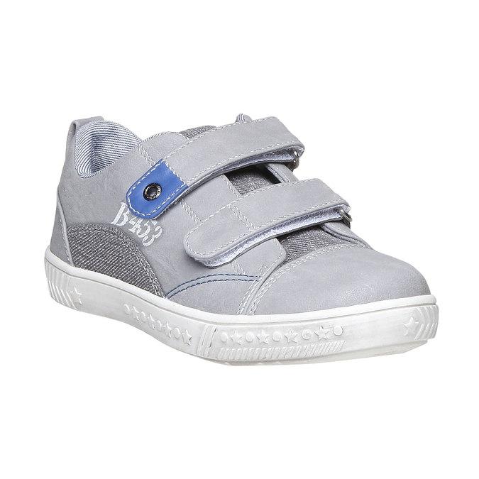 Detské tenisky na suchý zips mini-b, šedá, 211-2157 - 13