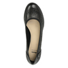Dámske kožené lodičky s perforáciou bata, čierna, 624-6602 - 19