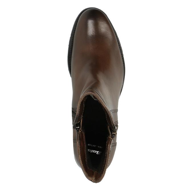 Kožené členkové čižmy so zipsom bata, hnedá, 694-4600 - 19