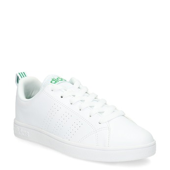 Biele tenisky so zelenými detailami adidas, biela, 501-1300 - 13
