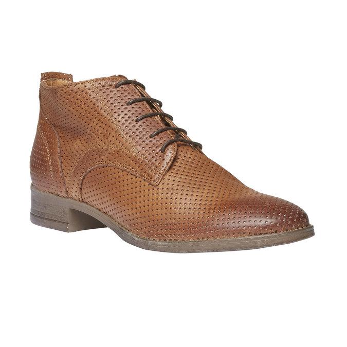 Dámske kožené členkové topánky bata, hnedá, 524-3468 - 13