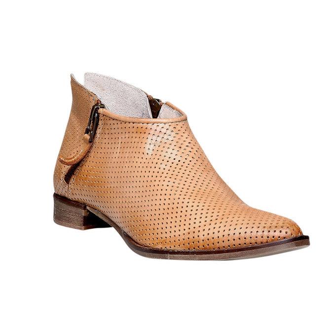 Kožené členkové čižmy bata, hnedá, 594-3400 - 13