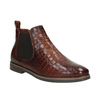Kožené Chelsea boots bata, hnedá, 596-4606 - 13
