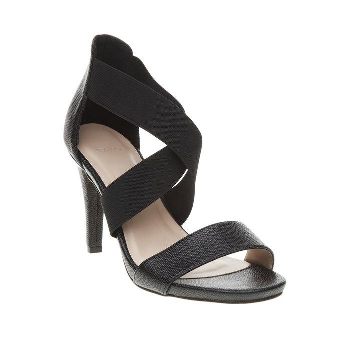 Dámske remienkové sandále na vysokom podpätku bata, čierna, 769-6300 - 13