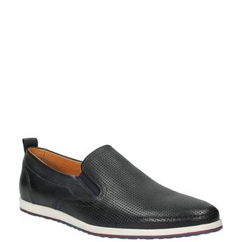 Pánske kožené Slip-on topánky bata, čierna, 814-9148 - 13