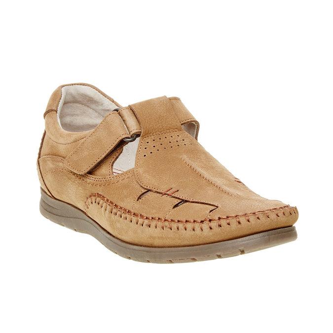 Pánske kožené sandále comfit, hnedá, 866-3184 - 13