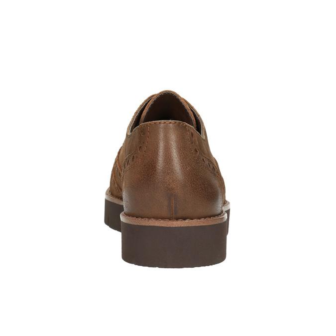 Dámske kožené poltopánky bata, hnedá, 526-4600 - 17