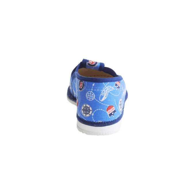 Detské papuče bata, modrá, 179-0105 - 17