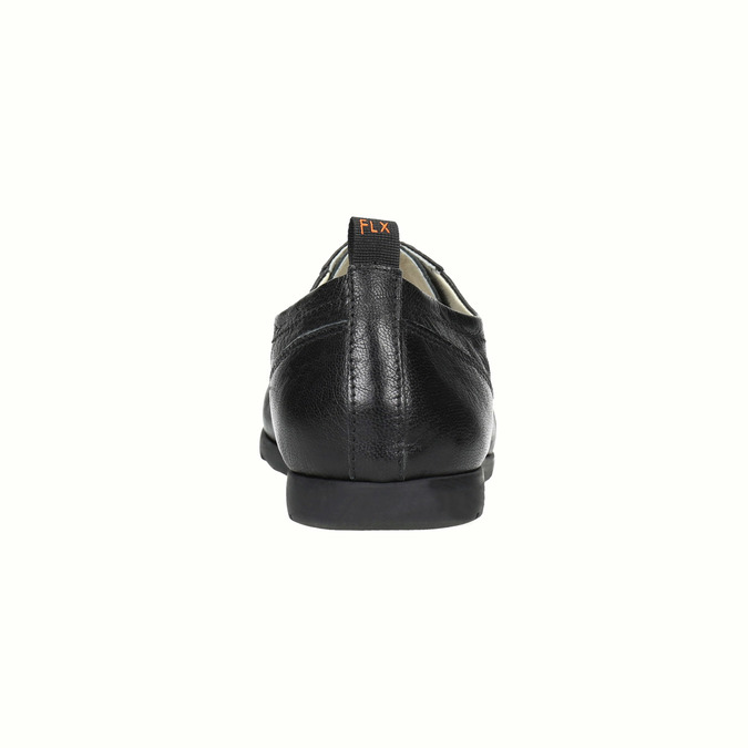 Dámske kožené poltopánky flexible, čierna, 524-6565 - 17