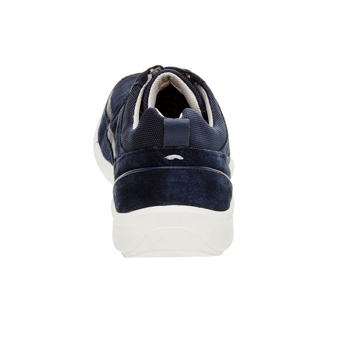 Ležérne kožené tenisky comfit, modrá, 843-9643 - 17
