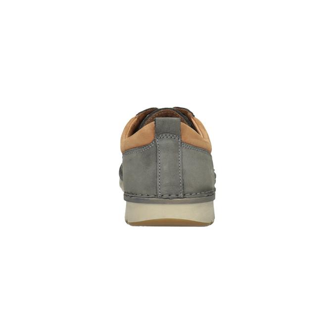 Ležérne kožené poltopánky weinbrenner, šedá, 846-2436 - 17
