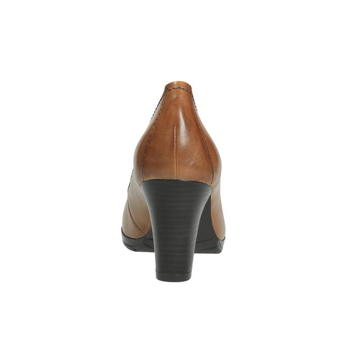 Dámske lodičky na širokom podpätku bata, hnedá, 726-3604 - 17