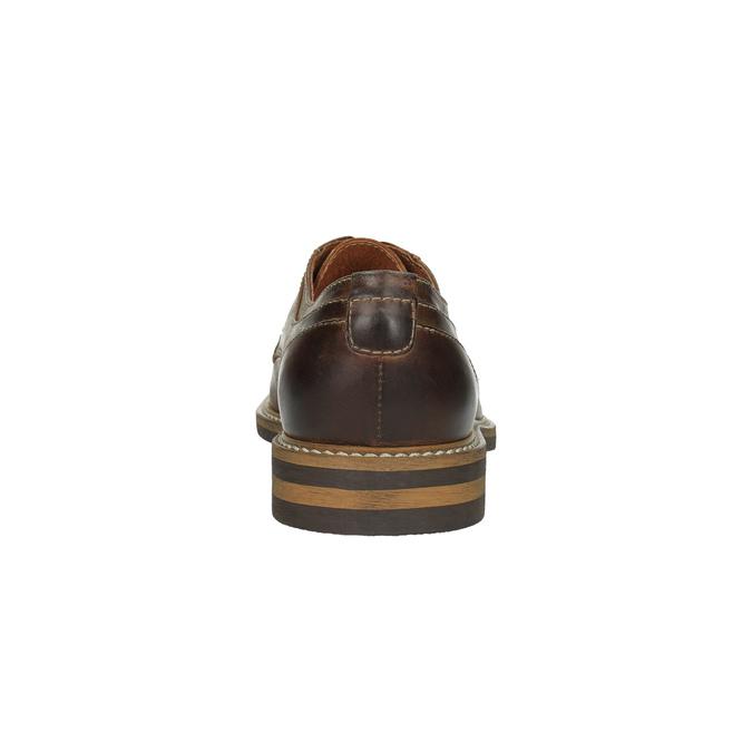Neformálne kožené poltopánky bata, hnedá, 824-4654 - 17