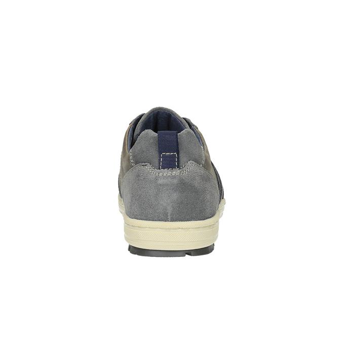 Pánske kožené tenisky bata, šedá, 826-2649 - 17