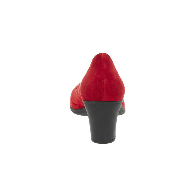 Červené kožené lodičky flexible, červená, 623-5393 - 17