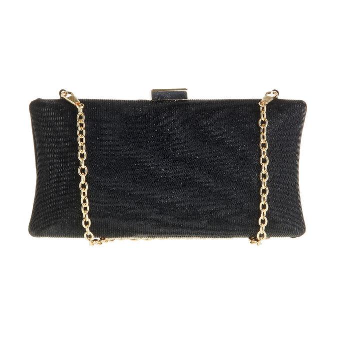 Listová kabelka v štýle Miniaudière bata, čierna, 969-6237 - 26