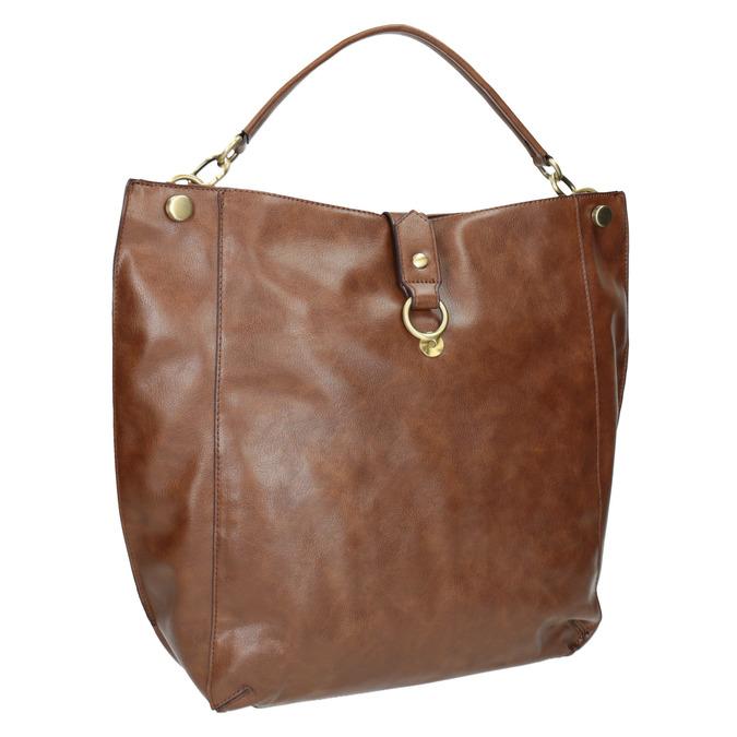 Hnedá kabelka v Hobo štýle bata, hnedá, 961-3808 - 13