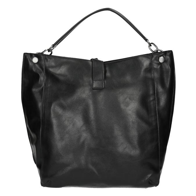 Čierna kabelka v Hobo štýle bata, čierna, 961-6808 - 26